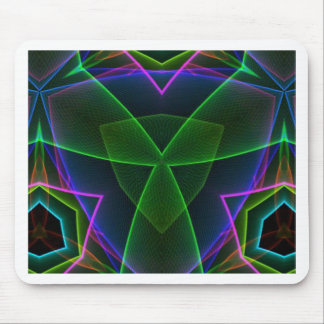 Electrifying Fluorescent Linear Abstract Mouse Pad
