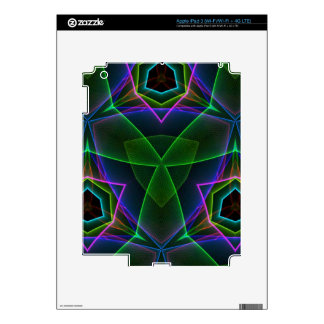 Electrifying Fluorescent Linear Abstract Skin For iPad 3