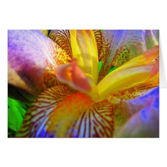 Electrifying Iris Card