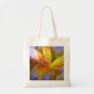 Electrifying Iris Tote Bag