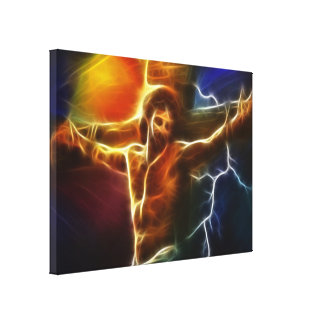 Electrifying Jesus Crucifixion Canvas Print