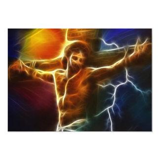 Electrifying Jesus Crucifixion Card