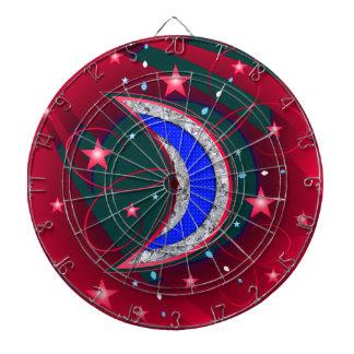 Electrifying Night Crescent Moon & Stars Dart Board