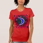 Electrifying Night Crescent Moon & Stars Tees