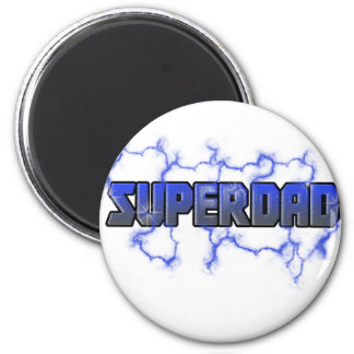 Electrifying Superdad 2 Inch Round Magnet