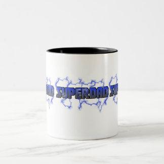 Electrifying Superdad Two-Tone Coffee Mug