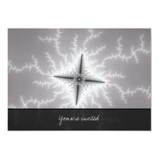 """Electro - arte del fractal invitación 5"""" x 7"""""""
