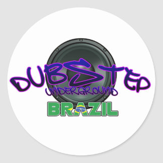 Electro brasileño del reggae de la suciedad de la pegatina redonda