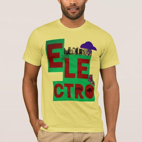 electro camiseta de la música