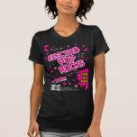 Electro camiseta del rosa del caramelo de rocas playera