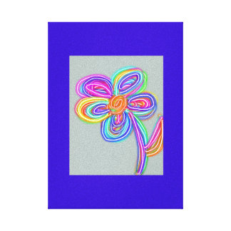 Electro canvas art flower art stretched canvas print