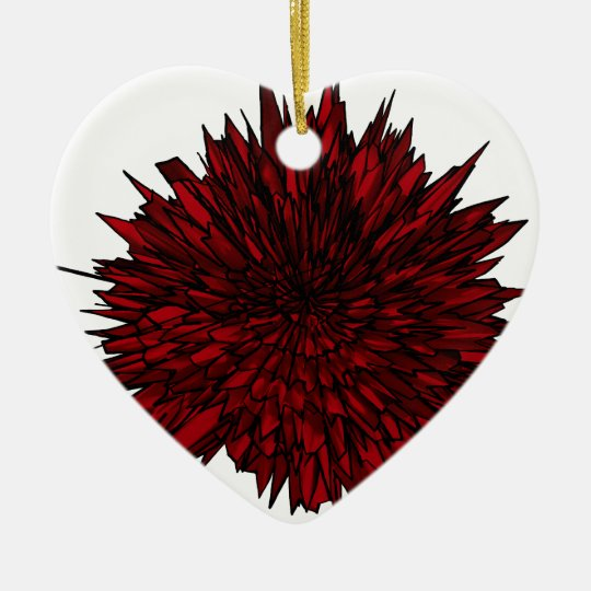 Electro Carnation Ceramic Ornament