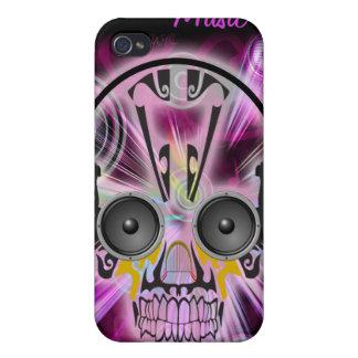Electro cráneo de la música iPhone 4 cárcasas