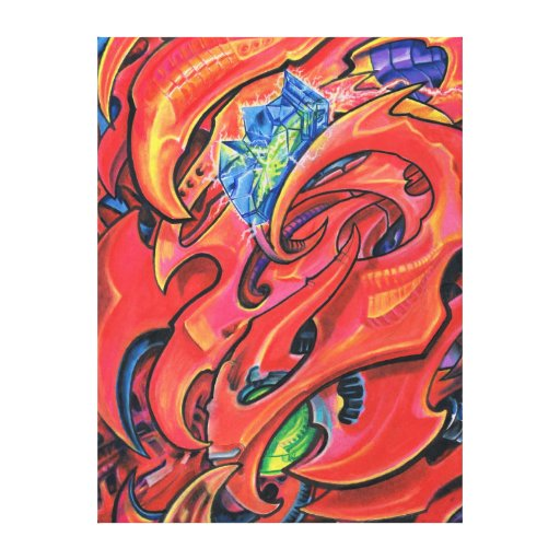 """Electro Crystal Mech"" Canvas Print"