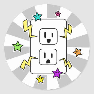 Electro Cutie Classic Round Sticker