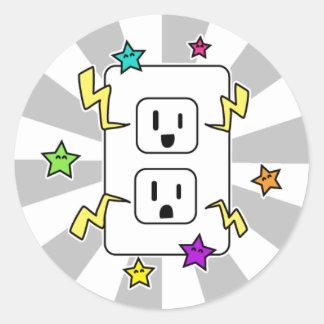 Electro Cutie Round Stickers