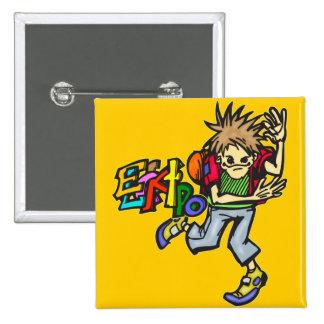 Electro Dance Pinback Button