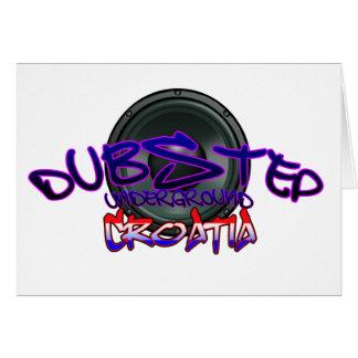Electro del reggae de DnB de la copia del croata D Tarjeta De Felicitación