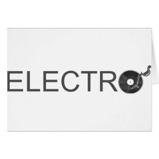 Electro - disco de vinilo DJ Clubber de la placa g Tarjeta De Felicitación