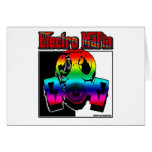 ELECTRO DJ music song mix ELECTRO Greeting Cards