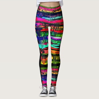 electro dripping lines womens leggings