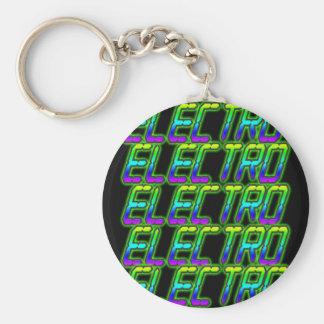 ELECTRO Electro Electro Music DJ Basic Round Button Keychain