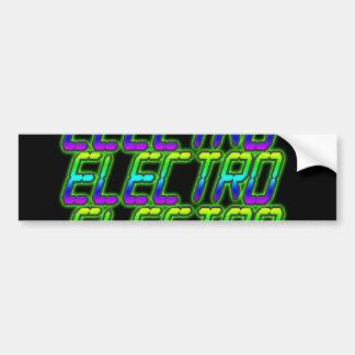 ELECTRO Electro Electro Music DJ Bumper Sticker