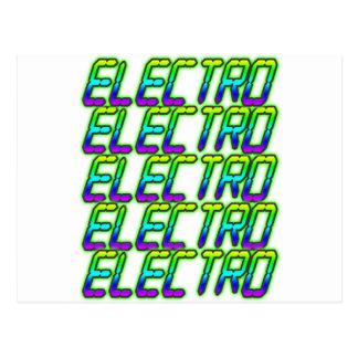 ELECTRO Electro Electro Music DJ Postcard