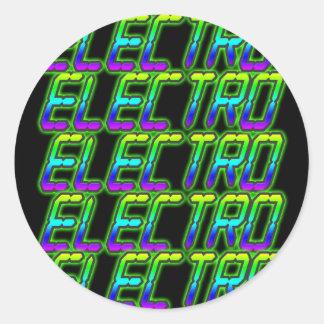 ELECTRO Electro Electro Music DJ Round Sticker