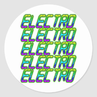 ELECTRO electro electro música DJ Pegatina Redonda