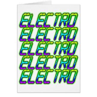 ELECTRO electro electro música DJ Tarjeta De Felicitación