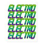 ELECTRO electro electro música DJ Tarjeta Postal