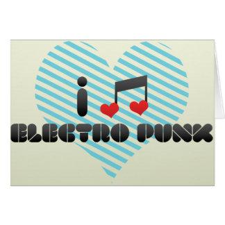 Electro fan punky tarjeta de felicitación