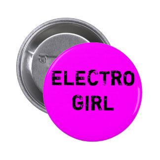 electro girl Button