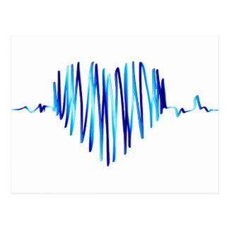 electro heart postcard