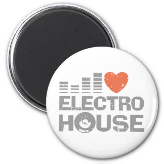 Electro House 2 Inch Round Magnet