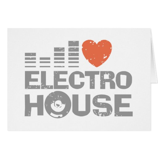 Electro House Greeting Card