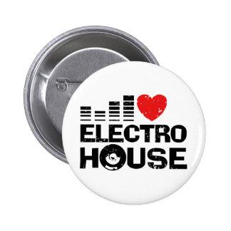 Electro House Pinback Button