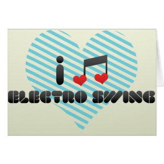 Electro oscilación tarjeta de felicitación