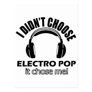 electro pop designs postcard