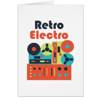 Electro retro tarjeta de felicitación