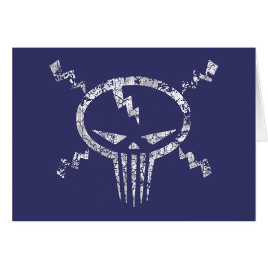 Electro Skull Card