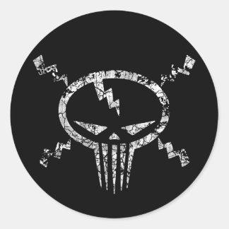 Electro Skull Sticker