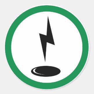Electro spot classic round sticker