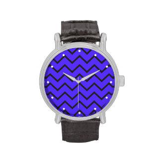 Electro zigzag azul relojes de pulsera