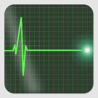 Electrocardiogram Waves Sticker Pack