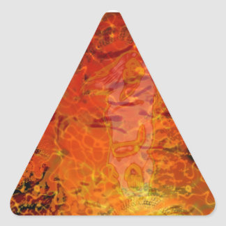 Electroflame Triangle Sticker