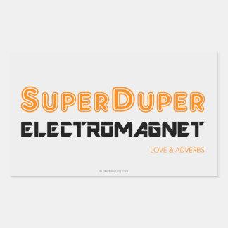 Electroimán estupendo de Duper Pegatina Rectangular