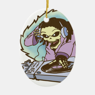 electrokution-2.png Double-Sided oval ceramic christmas ornament