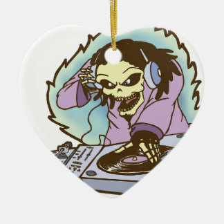 electrokution-2.png Double-Sided heart ceramic christmas ornament